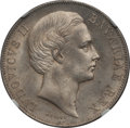 German States:Bavaria, German States: Bavaria. Ludwig II Taler 1868 MS64 NGC,...
