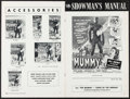 """Movie Posters:Horror, The Mummy & Other Lot (Universal International, 1959). UncutPressbooks (2) (Multiple Pages, 12"""" X 18""""). Horror.. ... (Total: 2Items)"""