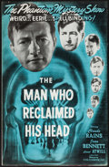 "Movie Posters:Drama, The Man Who Reclaimed His Head & Other Lot (Realart, R-1948).Uncut Pressbooks (2) (Multiple Pages, 11"" X 17""). Drama.. ...(Total: 2 Items)"