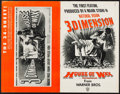 "Movie Posters:Horror, House of Wax & Other Lot (Warner Brothers, 1953). UncutPressbooks (2) (Multiple Pages 11"" X 17"" , 12"" X 18""). Horror.. ...(Total: 2 Items)"