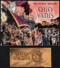 """Quo Vadis (MGM, 1951). Program (24 Pages, 6"""" X 9"""") & Opening Night Theater Ticket (8"""" X 4""""). His..."""