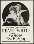 "Movie Posters:Drama, Know Your Men (Fox, 1921). Uncut Pressbook (8 Pages, 9.25"" X 12"").Drama.. ..."