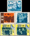 """Movie Posters:Crime, Angels with Dirty Faces & Others Lot (Dominant Pictures,R-1956). Lobby Cards (5) (11"""" X 14""""). Crime.. ... (Total: 5 Items)"""