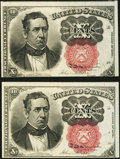 Fractional Currency:Fifth Issue, Fr. 1266 10¢ Fifth Issue Two Examples About New.. ... (Total: 2notes)
