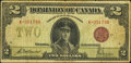 Canadian Currency: , Canada DC-26e $2 1923.. ...