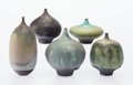 Ceramics & Porcelain, Rose Cabat (American, 1914-2015). Five Feelies, 1970-1985. Glazed stoneware. 3-7/8 inches high (9.9 cm) (tallest). Incis... (Total: 5 Items)