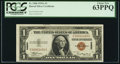 Low Serial Number C00001450C Fr. 2300 $1 1935A Hawaii Silver Certificate. PCGS Choice New 63PPQ