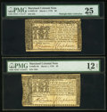 Colonial Notes:Maryland, Maryland March 1, 1770 $6 PMG Very Fine 25;. Maryland March 1, 1770$8 PMG Fine 12 Net.. ... (Total: 2 notes)
