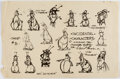 animation art:Model Sheet, Mr. Bug Goes to Town Animation Art Model Sheet (Fleischer Studios, 1941)....