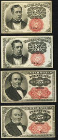 Fractional Currency:Fifth Issue, 10¢ and 25¢ Fifth Issue Fractionals.. ... (Total: 4 notes)