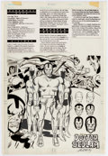 "Original Comic Art:Illustrations, Jack Kirby and Mike Machlan Who's Who: The Definitive Directory of the DC Universe #6 Page 22 ""Doctor Bedlam"" Illu..."