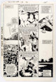 Michael Golden and Bob Wiacek X-Men Annual #7 Story Page 8 Original Art (Marvel, 1984)