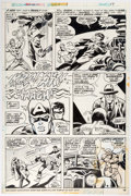 Original Comic Art:Panel Pages, Frank Robbins and Vince Colletta Giant-Size Invaders #1 Story Page 10 Captain America's Origin Original Art (Marve...