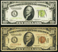 Small Size:World War II Emergency Notes, $10 Hawaii and Home Front FRNs.. ... (Total: 2 notes)