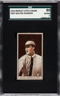 Baseball Cards:Singles (Pre-1930), 1912 T207 Recruit Walter Johnson SGC 80 EX/NM 6 - Pop Two, NoneHigher. . ...