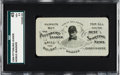 Baseball Cards:Singles (1950-1959), 1904 Pittsburgh Leader Honus Wagner Pocket Schedule SGC 45 VG+ 3.5.. ...