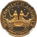 "Anguilla, Anguilla: British Dependency gold ""Mermaids"" Proof 20 Dollars 1969PR69 Ultra Cameo NGC,..."