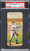 Baseball Cards:Singles (Pre-1930), 1911 T201 Mecca Double Folders Street/Johnson PSA NM-MT+ 8.5 - PopThree, None Higher. . ...