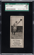 Baseball Cards:Singles (Pre-1930), 1924 V122 Willard Chocolate Ty Cobb #39 SGC 92 NM/MT+ 8.5.. ...
