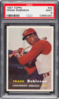 Baseball Cards:Singles (1950-1959), 1957 Topps Frank Robinson #35 PSA Mint 9 - None Higher....