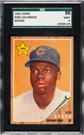 Baseball Cards:Singles (1960-1969), 1962 Topps Lou Brock #387 SGC 96 Mint 9 - Pop Four, Only OneHigher.. ...