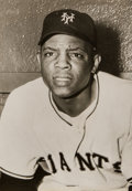 Baseball Collectibles:Photos, 1951 Willie Mays Original Photograph Used for 1952 Berk Ross Card,PSA/DNA Type 1. . ...