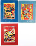 Golden Age (1938-1955):Miscellaneous, Golden Age Fox Comics Covers Group of 3 (Fox, 1939-40).... (Total: 3 Items)