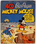 Platinum Age (1897-1937):Miscellaneous, 40 Big Pages of Mickey Mouse #945 (Whitman, 1936) Condition:FR/GD....