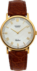 Timepieces:Wristwatch, Rolex Cellini Ref. 5112 Mother-of-Pearl & Diamond Dial. ...