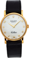 Timepieces:Wristwatch, Rolex Cellini Ref. 5115 Yellow Gold Wristwatch Mother-of-Pearl Dial. ...