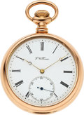 Timepieces, F. Willman Unique 14k Gold Cased Detent Chronometer Modified ElginConvertible. ...