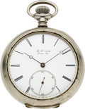 Timepieces:Pocket (pre 1900) , H.W. Smith Boston Mass. Early Independent American Maker Key WindNo. 13. ...