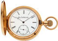 Timepieces, Elgin Heavy 18k Gold Cased Convertible With Gold Chain, Fob & Penknife. ...