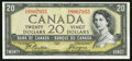 Canadian Currency: , Canada BC-33b $20 1954 Devil's Face.. ...