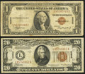 Small Size:World War II Emergency Notes, Fr. 2300 $1 1935A Hawaii Silver Certificate. Fine;. Fr. 2305 $20 1934A Hawaii Federal Reserve Note. Very Fine.. ... (Total: 2 notes)