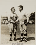Baseball Collectibles:Photos, 1935 Babe Ruth Welcomed by Bill McKechnie to the Boston BravesOriginal Photograph by Thorne Studio.. ...