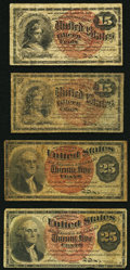 15¢ and 25¢ Fourth Issue Fractionals