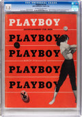 Magazines:Miscellaneous, Playboy #4 (HMH Publishing, 1954) CGC FR/GD 1.5 Off-white to white pages....