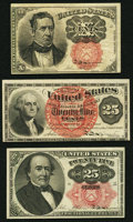 Fractional Currency:Fifth Issue, Fourth and Fifth Issue Fractionals.. ... (Total: 3 notes)
