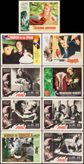 "Movie Posters:Horror, Horror of Dracula & Others Lot (Universal International, 1958).Lobby Cards (9) (11"" X 14""). Horror.. ... (Total: 9 Items)"
