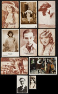 "Movie Posters:Miscellaneous, Silent Screen Stars (1920s). Postcards (8) (approx. 5.5"" X 3.5""),Cigarette Card (1.5"" X 2.5""), & Photo (2.25"" X 3.5""). Misc...(Total: 10 Items)"