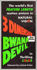 "Movie Posters:Adventure, Bwana Devil (United Artists, 1953). Day-Glo Three Sheet (41"" X78.5"") 3-D Teaser Style. Adventure.. ..."