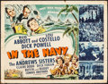 "Movie Posters:Comedy, In the Navy (Universal, 1941). Half Sheet (22"" X 28""). Comedy.. ..."