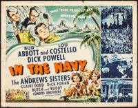 """In the Navy (Universal, 1941). Half Sheet (22"""" X 28""""). Comedy"""