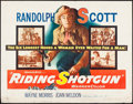"Movie Posters:Western, Riding Shotgun & Other Lot (Warner Brothers, 1954). Half Sheets(2) (22"" X 28""). Western.. ... (Total: 2 Items)"