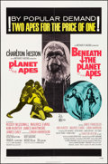 "Movie Posters:Science Fiction, Planet of the Apes/Beneath the Planet of the Apes Combo (20thCentury Fox, R-1971). One Sheet (27"" X 41""). Science Fiction...."