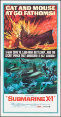 "Movie Posters:War, Submarine X-1 (United Artists, 1968). Three Sheet (41"" X 79"").War.. ..."