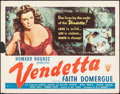 "Movie Posters:Crime, Vendetta (RKO, 1950). Half Sheet (22"" X 28""). Crime.. ..."