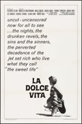 """Movie Posters:Foreign, La Dolce Vita (American International, R-1966). One Sheet (27"""" X41""""). Foreign.. ..."""