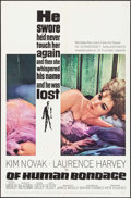 "Movie Posters:Drama, Of Human Bondage (MGM, 1964). One Sheet (27"" X 41""), Lobby Card Setof 8 (11"" X 14""), Uncut Pressbook (12 Pages, 12"" x 17""),... (Total:11 Items)"